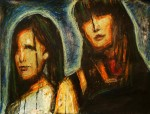 RENEE & ANN MARIE (PAINTING BY GUY FIERO)